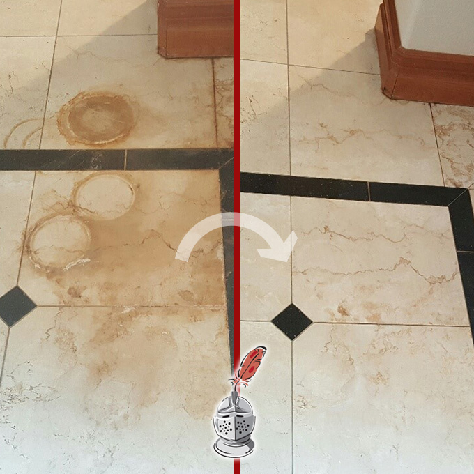 Marble Floor Cleaning Process