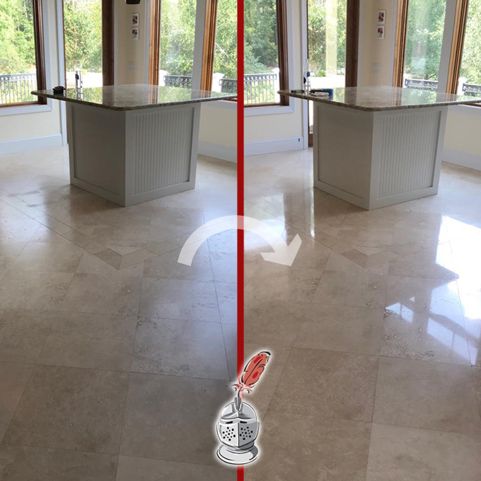 Professional Travertine Honing and Polishing