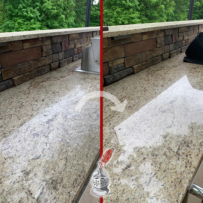 Outdoor Stone Countertop Restoration