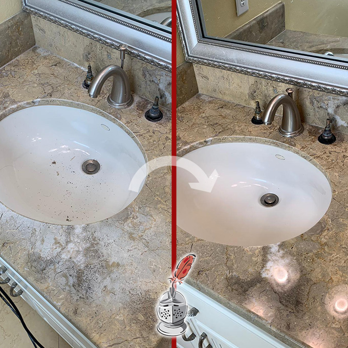 Marble Countertop Restoration Job