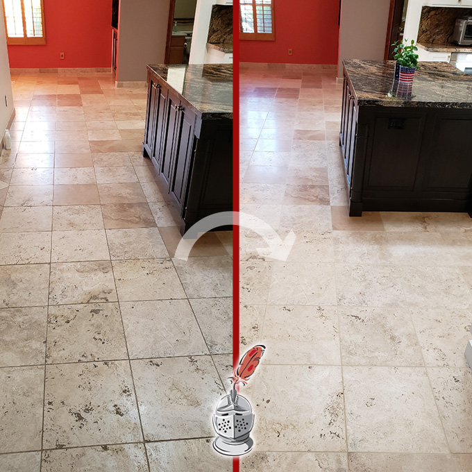 Travertine Deep Cleaning and Sealing