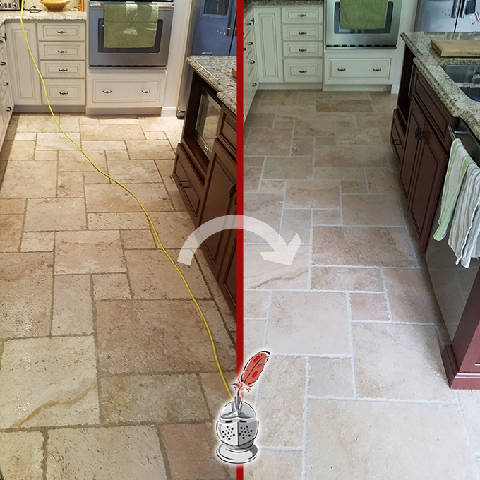 Kitchen Floor Cleaning and Sealing