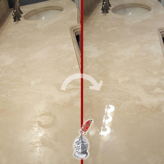 Marble Cleaning Countertop