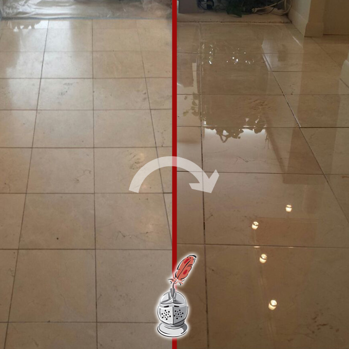 Travertine Floor Polishing