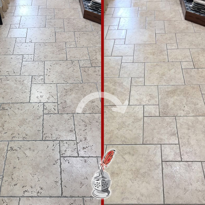 Travertine Floor Cleaning and Sealing