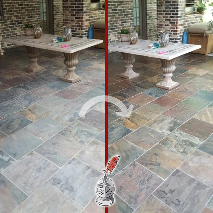 Slate Color Enhancement And Sealing