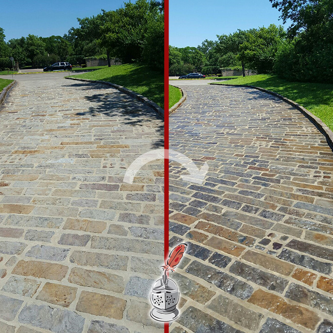 Flagstone Color Enhancement And Sealing