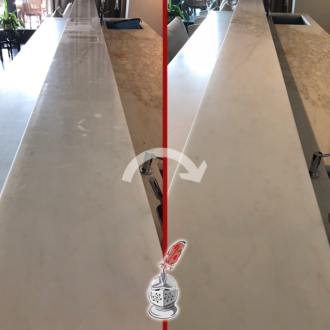 Marble Counter Honing