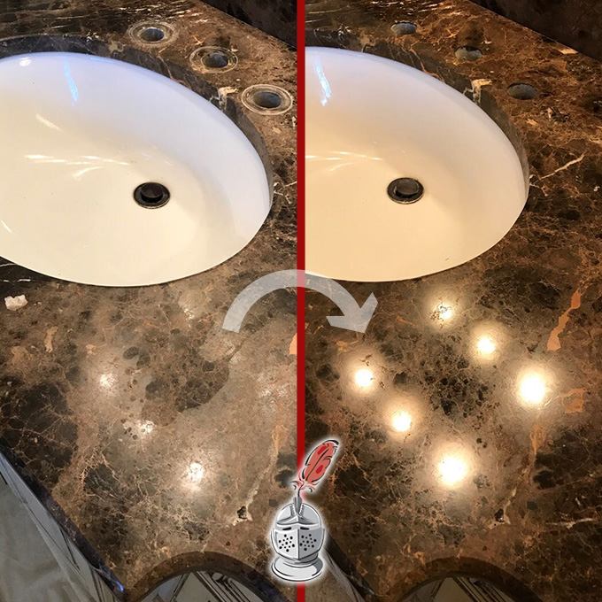 Brown Marble Restoration
