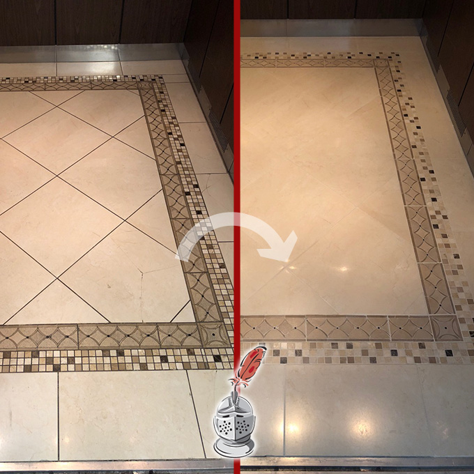 Marble and Grout Cleaning