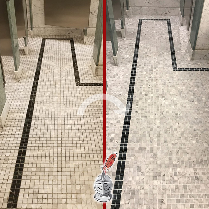 Restrooms Floor Deep Cleaning